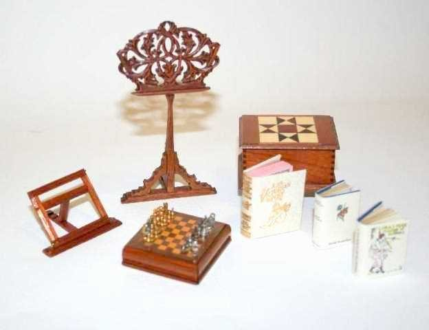 Library Furniture Dollhouse Miniatures