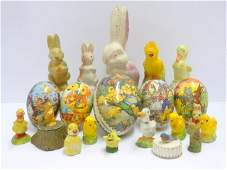 Vintage Easter Candy Containers & Decorations