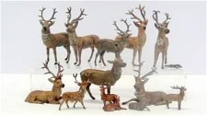 Group German Lead Deer