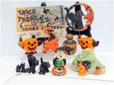 Group Vintage Halloween Items