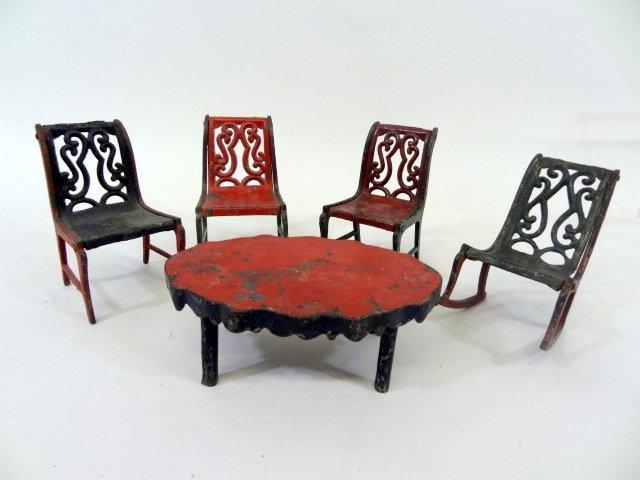 J. U0026 E. Stevens Cast Iron Dollhouse Furniture