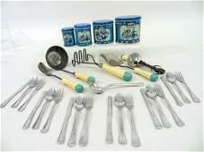 Child's Toy Utensil Set/Canister set