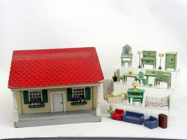 Schoenhut Red Roof Dollhouse