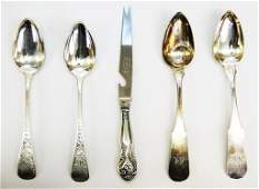 Four Silver Dinner Spoons