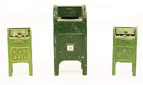 Pair Hubley Cast Iron Mailboxes & Other