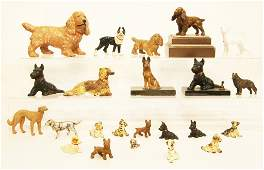 Large Group Cast Iron Dogs