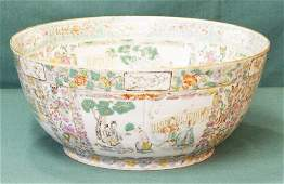 Antique Rose Medallion Punch Bowl