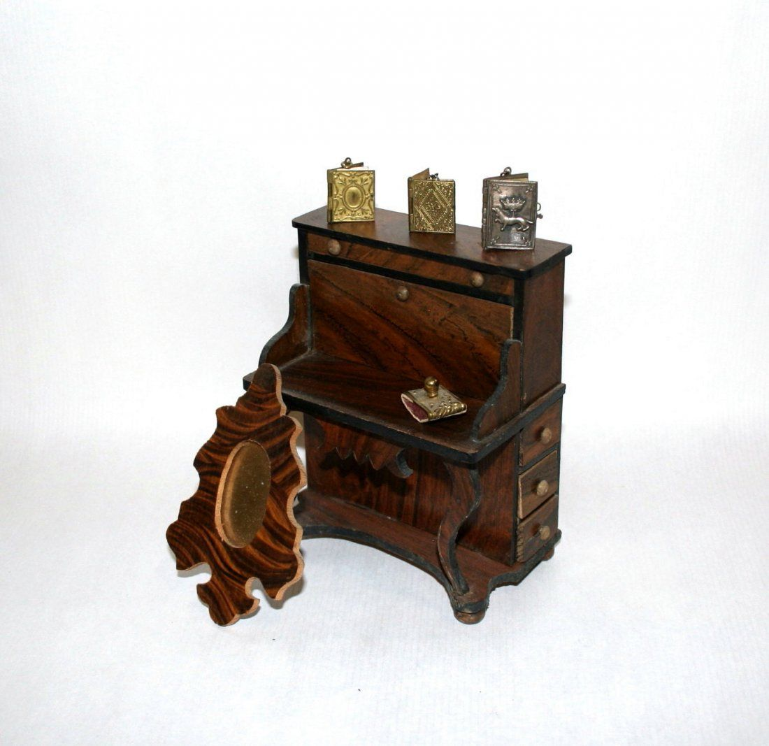 Early German Desk and Accessories and Love Letter