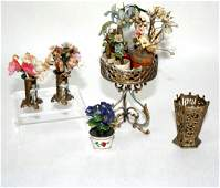Soft Metal Plant Stand and Flowers