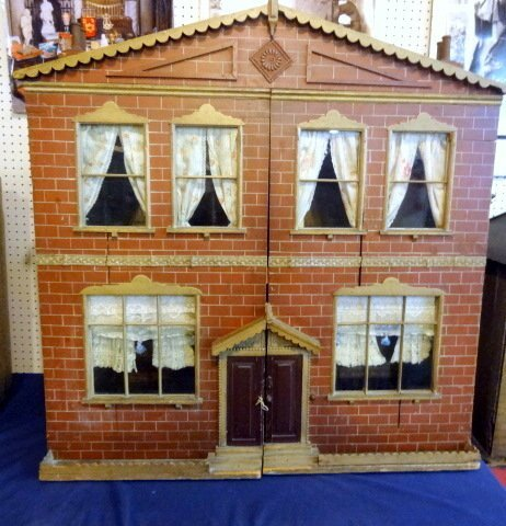 Large Victorian Brick House Dollhouse