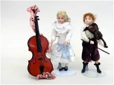 Two Liz Staryk Dollhouse Dolls
