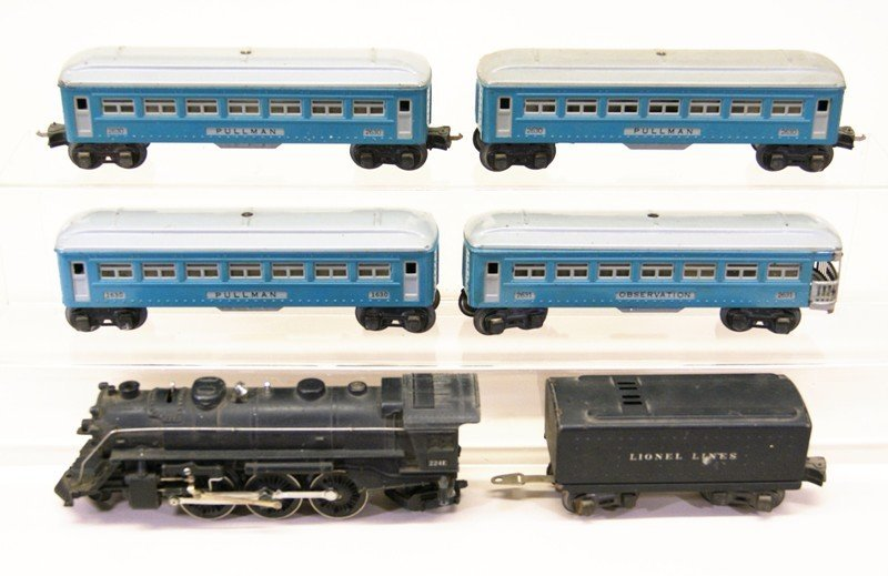 Lionel Blue Passenger Set w/224E Locomotive