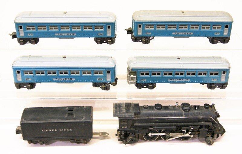 Lionel Blue Passenger Set w/224E Locomotive - 2