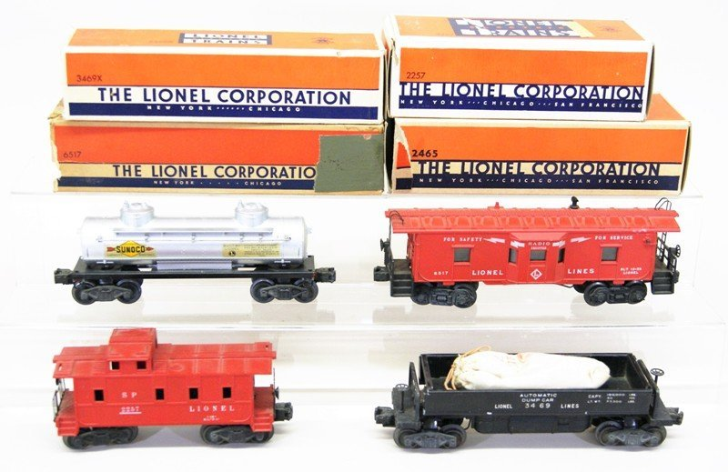 Four Lionel Freight Car with OB's