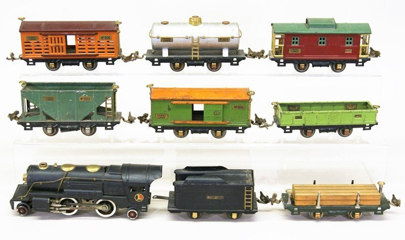 Lionel Pre-war 9 Piece Freight Set w/259E Engine