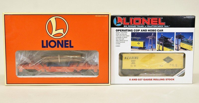 Modern Era Lionel Operating Cars 16814 and 19473
