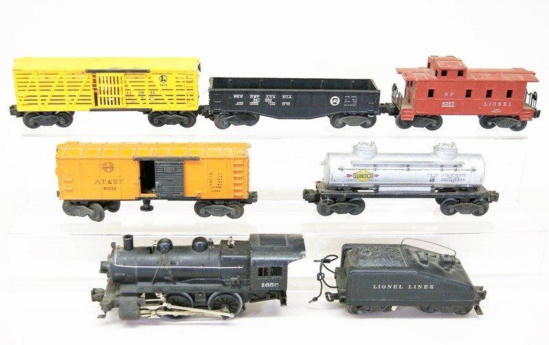 Lionel Seven Piece Freight Set w/1656 Engine