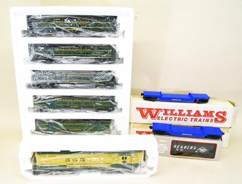 Williams Reading Engine, Passenger and Freight Cars in