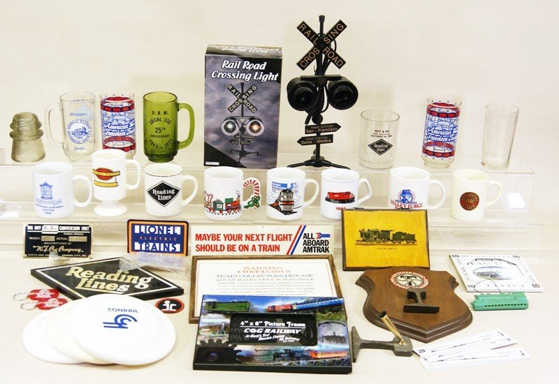 Large Group Railroad Collectibles