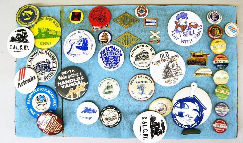 Railroad Buttons, Pins, Patches, Badges - 3