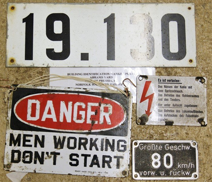 Group Railroad Signs & ID's - 4