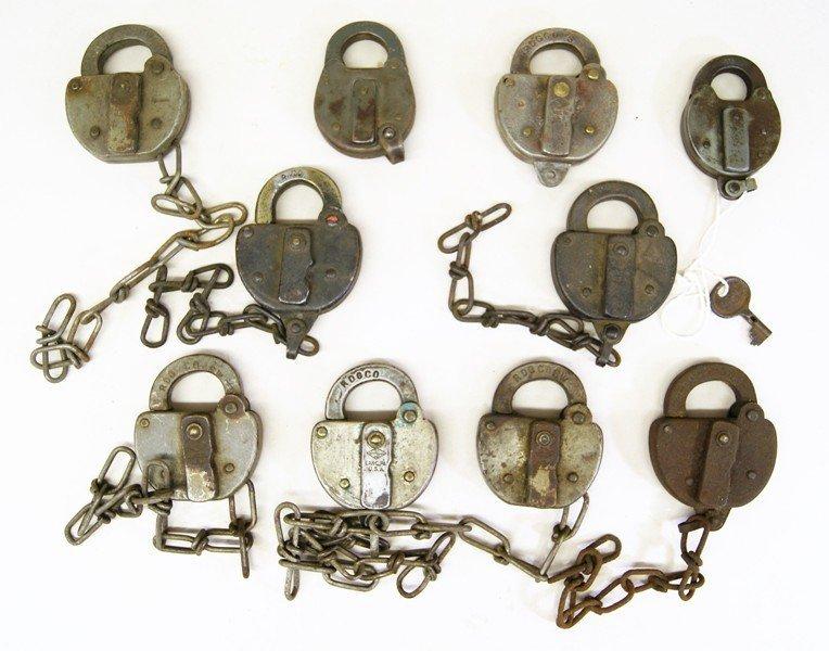 Ten Reading Railroad Switch Locks