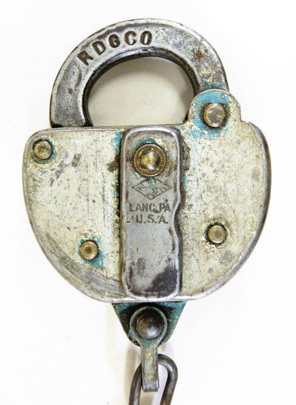 Ten Reading Railroad Switch Locks - 2