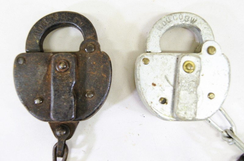 Lot of Fourteen Reading Railroad Switch Locks - 2