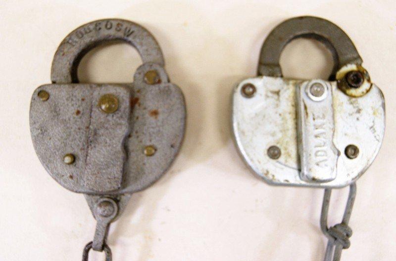 Lot of Fourteen Reading Railroad Switch Locks - 3