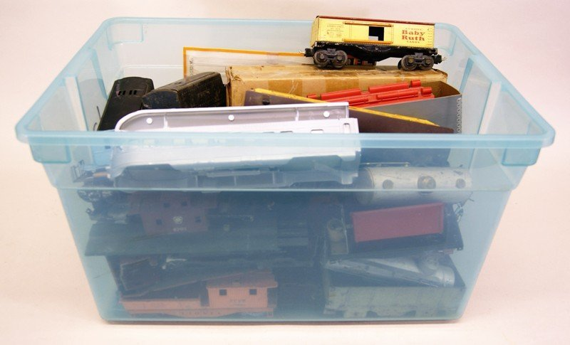 Large Lot of Miscellaneous Model Train Cars, Engines,