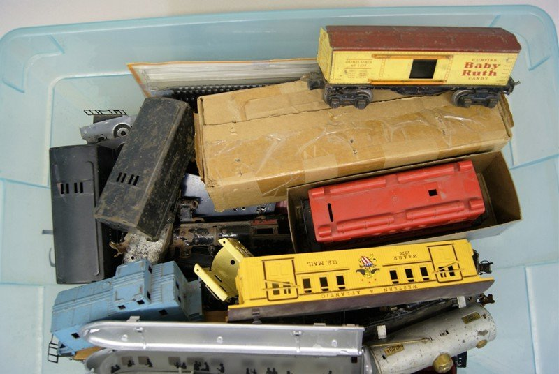 Large Lot of Miscellaneous Model Train Cars, Engines, - 2