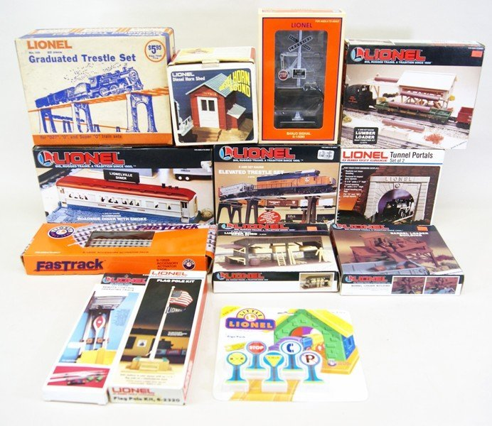 Large Lot of Lionel Accessories in Original Boxes