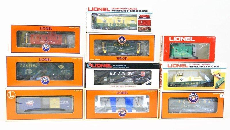 Lot of Ten Lionel Reading Railroad Rolling Stock