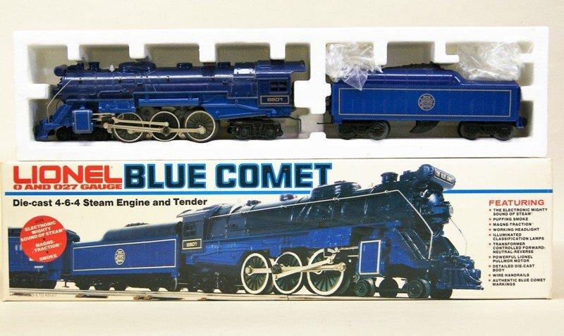 Modern Era Lionel Blue Comet Train Set in O/B's - 2