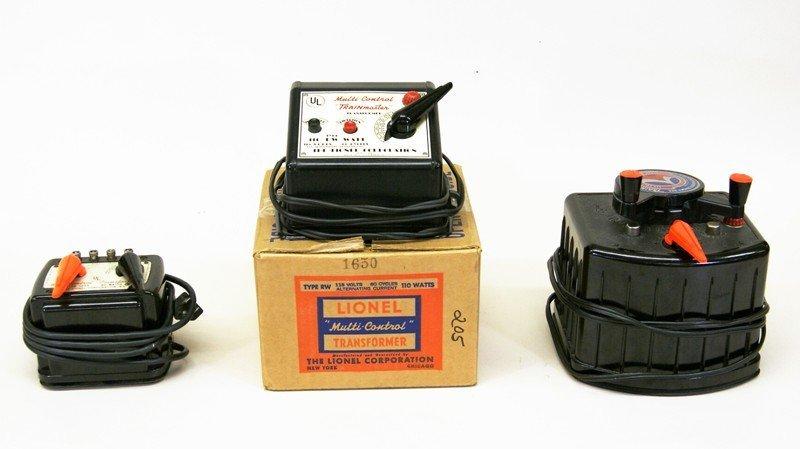 Three Vintage Lionel Transformers