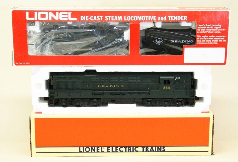 Two Lionel Reading Locomotives
