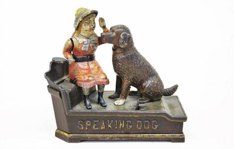 Shepard Hardware Speaking Dog Mechanical Bank