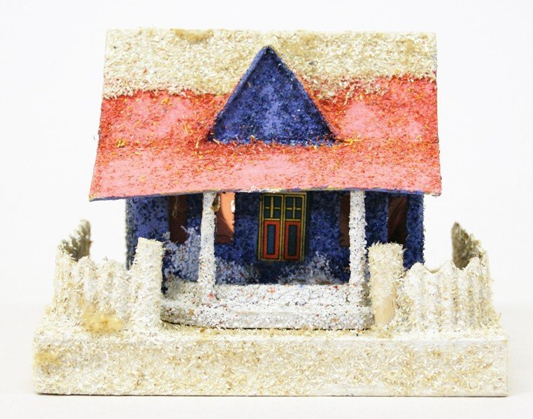 Seven Vintage Christmas Building Decorations - 4