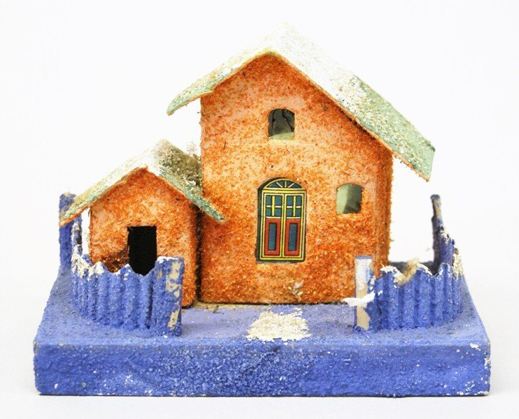 Seven Vintage Christmas Building Decorations - 5