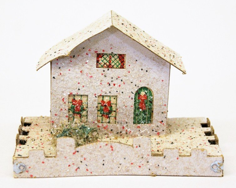 Seven Vintage Christmas Building Decorations - 6