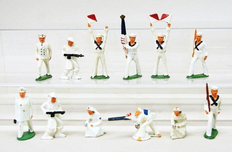 Twelve Cast Lead Soldiers and Nurses