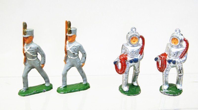 Cast Lead Toy Figures - 3