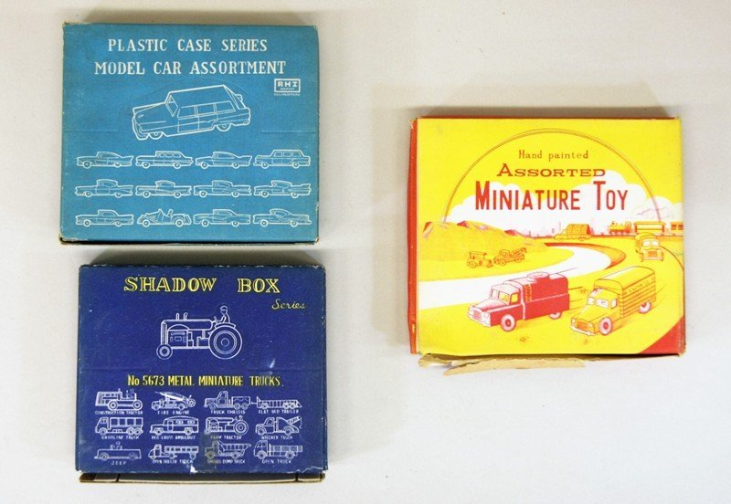 Three Store Boxes of Miniature Vehicles