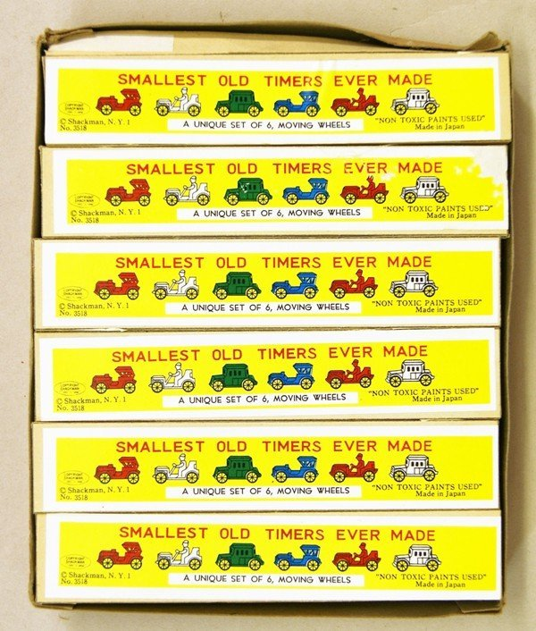 Two Shackman Store Boxes Miniature Cars