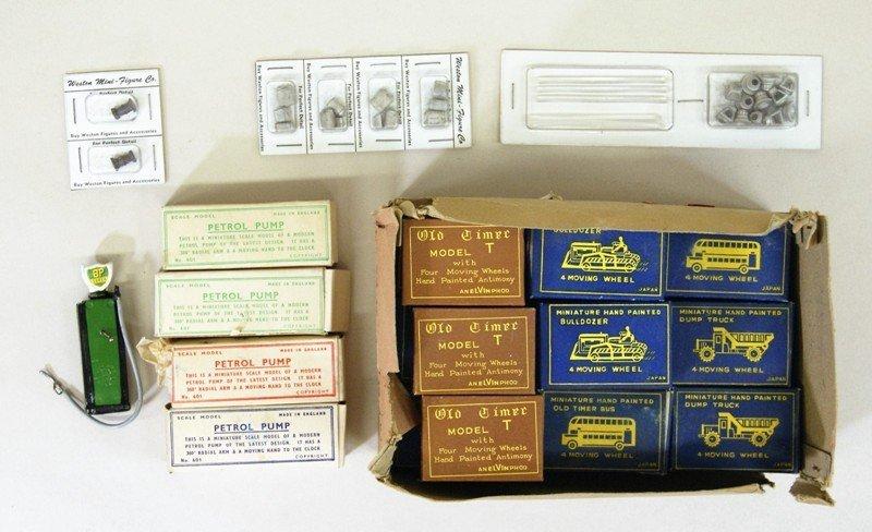 Vintage Miniature Vehicles and Gas Pumps