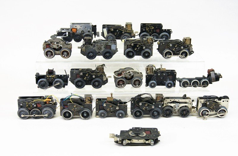 Lot of Nineteen Motors for Train Engines Mostly Lionel