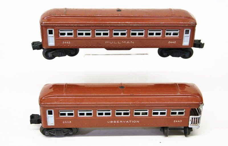 Lionel Lot of Tin Passenger Cars and Various Cabooses - 2