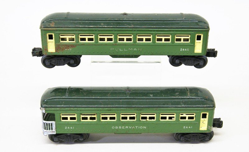 Lionel Lot of Tin Passenger Cars and Various Cabooses - 3
