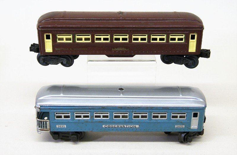 Lionel Lot of Tin Passenger Cars and Various Cabooses - 4