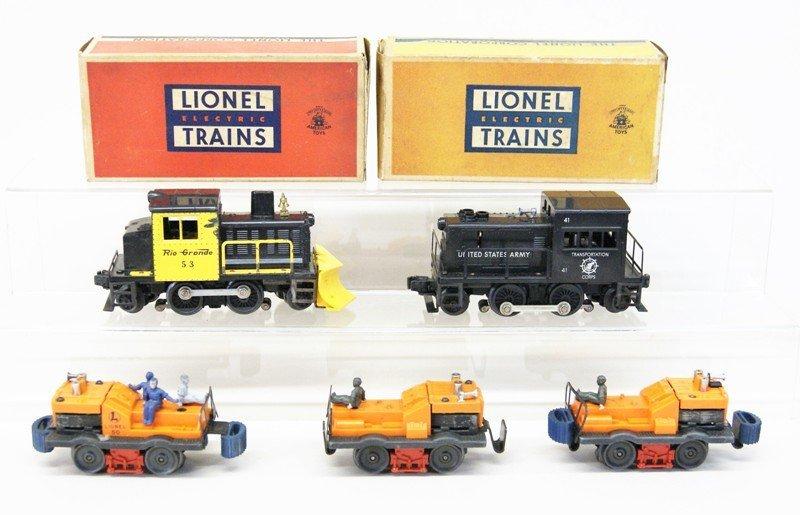 Lionel Post-war Motorized Unit Lot of Five